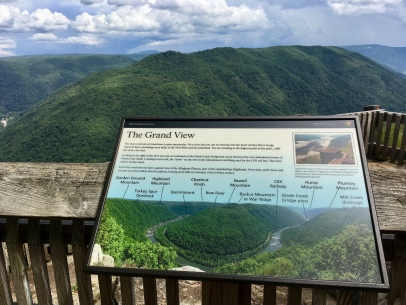 Grandview information sign