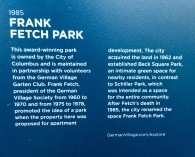 Info on Frank Fetch Park