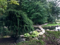 Stone bridge in Japanese Garden