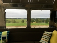 Living room view from inside our Airstream