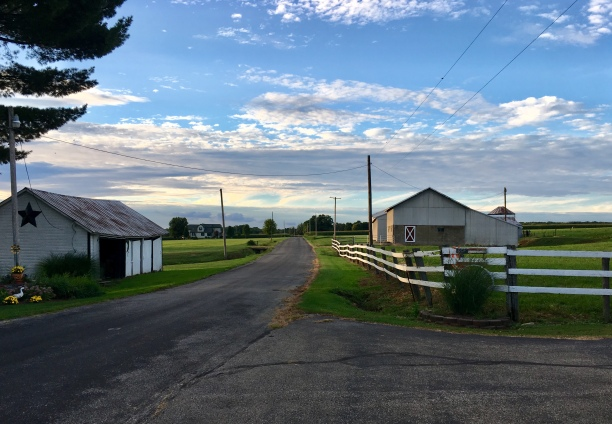Nice view of the farm from the main road
