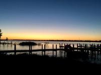Beautiful sunset at Buckeye Lake
