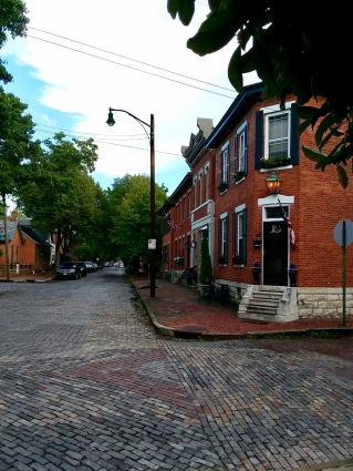 Cobblestone street in German Village