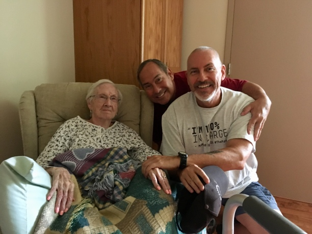 Dan & Brian with Great-Aunt Winsome