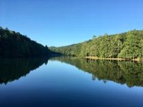 Beautiful lake that we walked around